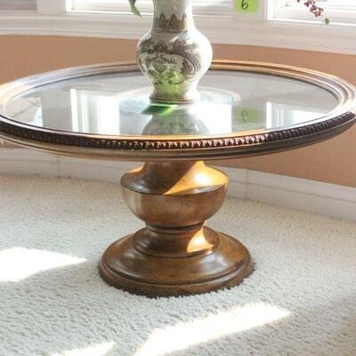 Lot 6 Glass Round Coffee Table