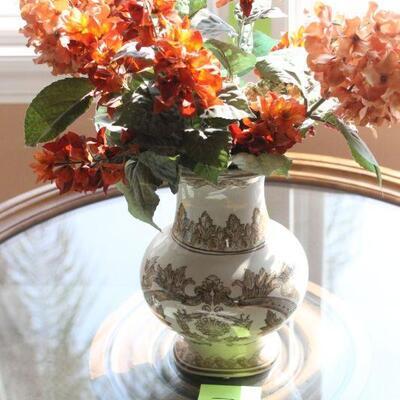 Lot 7 Ceramic Vase w/ Faux Floral