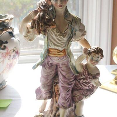 Lot 12 Vintage Italian Capodimonte Porcelain Statue