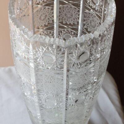 Lot 15 Lrg. Crystal Vase