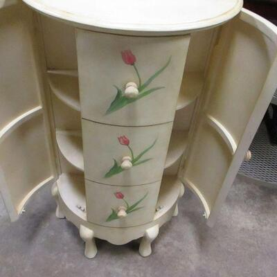 Lot 10 - Hand Painted Demilune Jewelry Tower