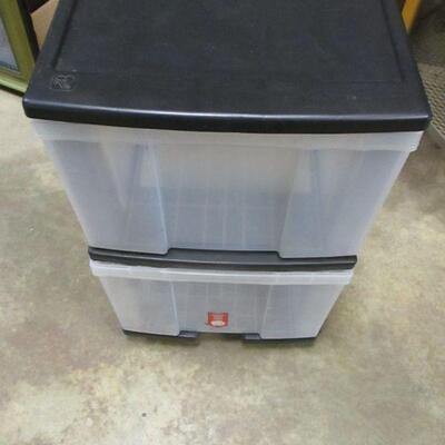 Lot 11 - 2 Drawer Rolling Storage Cabinet