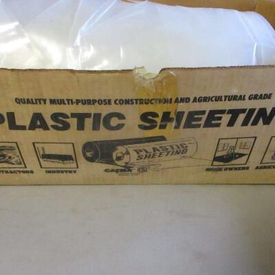 Lot 15 - Box Of Heavy Thick Mil Plastic Sheeting -  6 mil