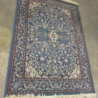 Lot 21 - Keshan French Blue Area Rug
