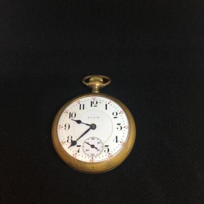 Elgin Train Pocket Watch