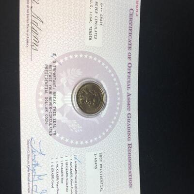 1/2 2017 John Addams Dollar Coin