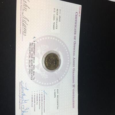 2/2 2017 John Addams Dollar Coin