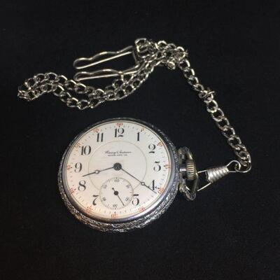 Silver Plated Wessing and Anderson Pocket Watch