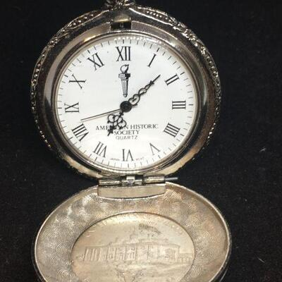US Half Dollar Front Cover Pocket Watch