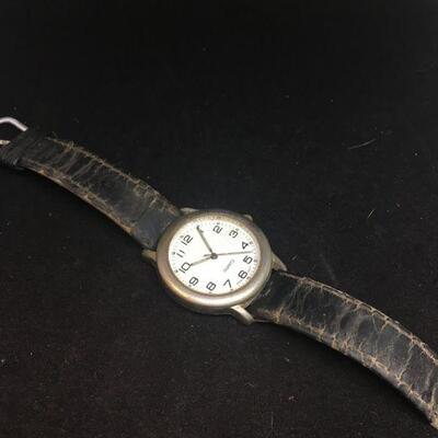 Vintage Wrist Watch with Glowing Numbers and Hands