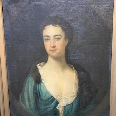 LOT#1: Late 18th Century Believed to be Portrait of Mary Belcher