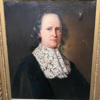 LOT#2: Believed to be 18th Century English School Portrait of a Man #1