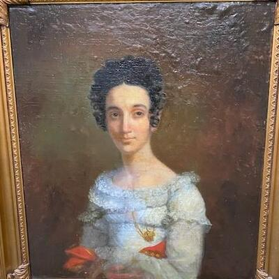 LOT#3: Believed to be 18th Century English School Portrait of a Lady #1
