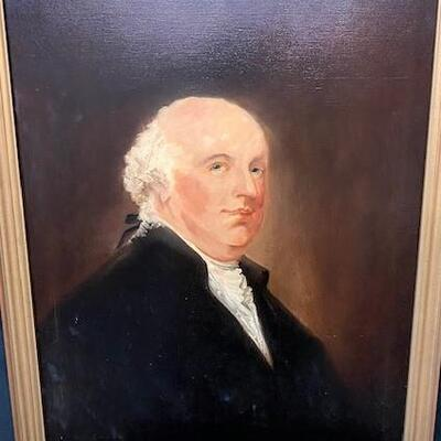 LOT#4: Believed to be 18th Century English School Portrait of a Man #2