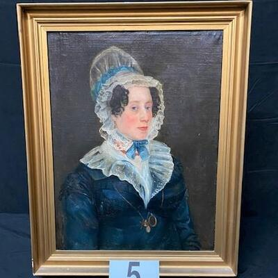 LOT#5: Believed to be 18th Century English School Portrait of a Lady #2
