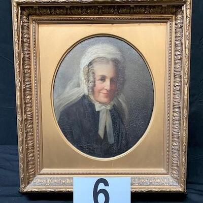 LOT#6: Believed to be 18-19th Century English School Portrait of a Lady