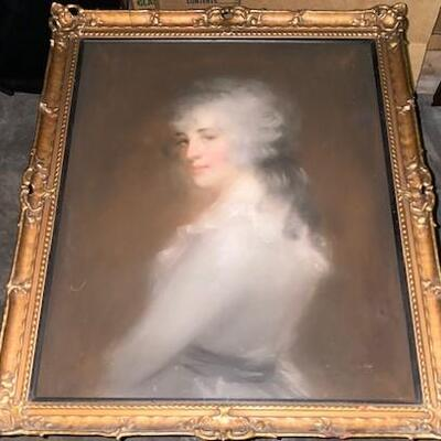 LOT#10: Early Portrait of a Woman Under Glass