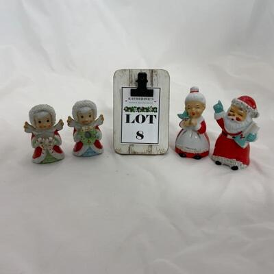 (8) Vintage | Four Japan-Marked Christmas Figures
