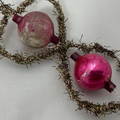(10) Antique | Two Victorian German Tinsel Ornaments