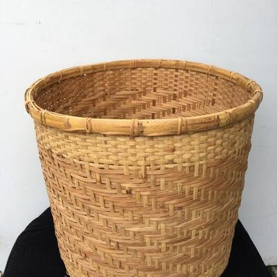 "Massive Hand Woven Basket 18"" high!"