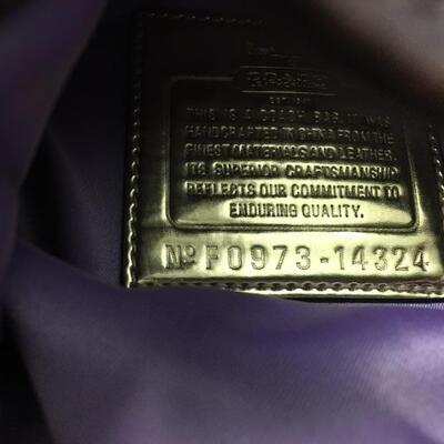 COACH Handbag Purple Lining with Original Box and Bag