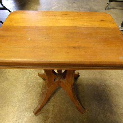 Lot 3 - Vintage Solid Wood Lamp Table