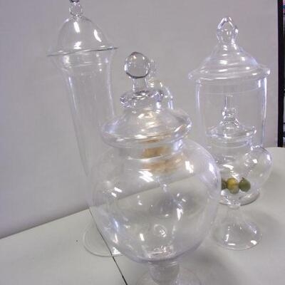 Lot 15 - Glass Display Containers With Lids