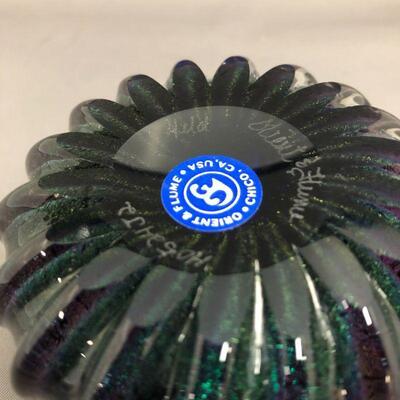 Purple/Green/Blue iridescent pen holder-signed Orient & Flume, Held, H0524J2