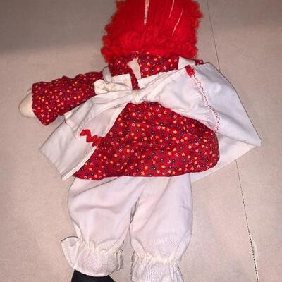 Vintage unauthentic raggedy Ann vintage doll