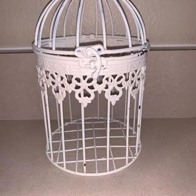 Vintage bird cage room decor set