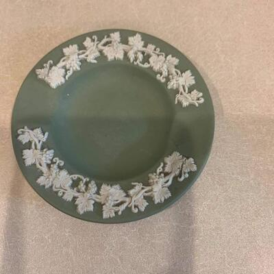 Vintage jasperware ashtray green