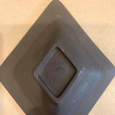 Vintage jasperware ashtray black