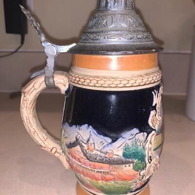 Vintage German beer stein lucerne