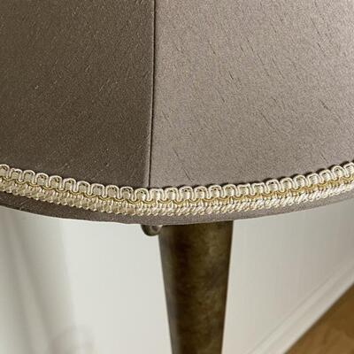 Tall Gold & Silver Floor Lamp