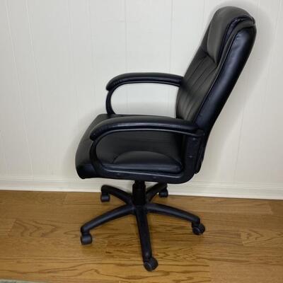 Venn Black Faux- Leather Office Chair