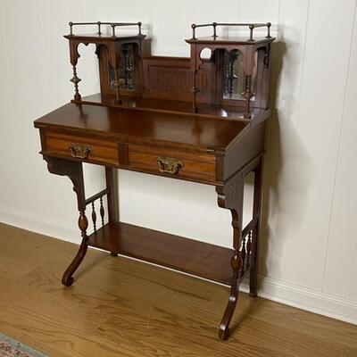 Antique Small Flip Top Desk Solid Wood