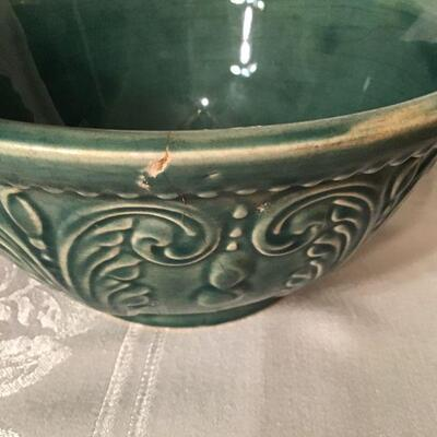 DR#32 - Genuine Ovenware rust bowl & green bowl