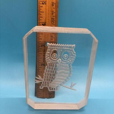 Owl Etching Block Acrylic