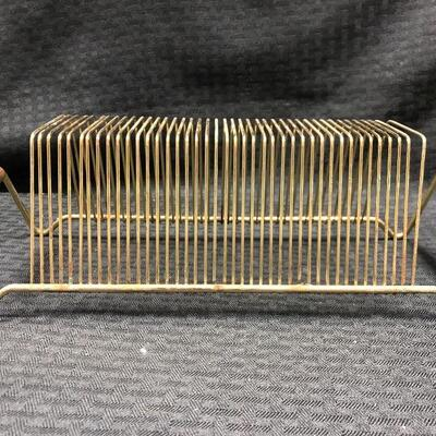 Vintage Brass 45rpm record holder