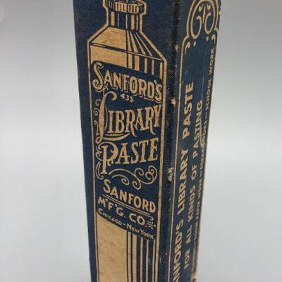 Vintage Sanford's Library Paste Photo Mounting Glue