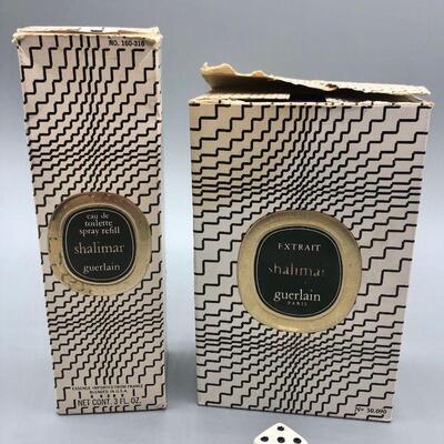 Vintage Guerlain SHALIMAR Eau De Toilette Spray Refill & Extrait