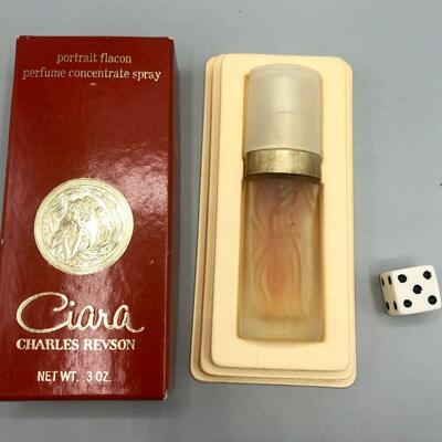 Vintage Charles Revson CIARA .3oz New in Box Perfume Concentrate Spray