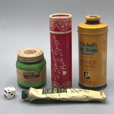 Vintage Beauty Aid Bottles
