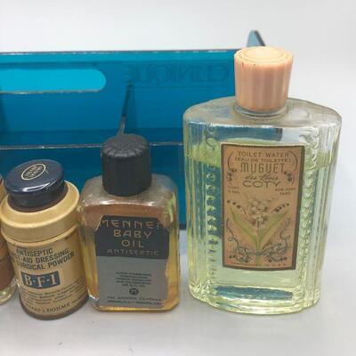 Vintage Medicine Cabinet First Aid Bottles