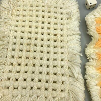 Pair of Yarn Crochet Doily Table Mats