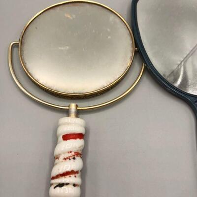 Pair of Vintage Hand Mirrors