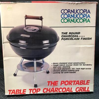 NWT Cornucopia Table Top Charcoal Grill