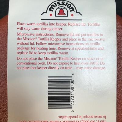 Mission® Tortillero Tortilla Warmer NWT