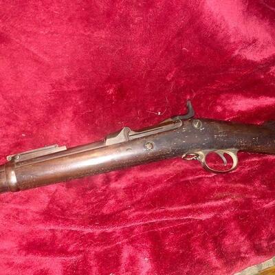 U.S. model 1884 Springfield trap door rifle good condition - complete