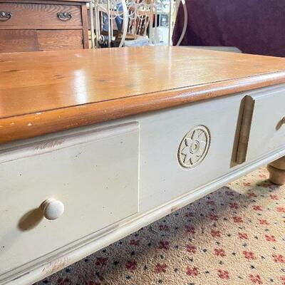 L83: Cream and Maple Coffee Table